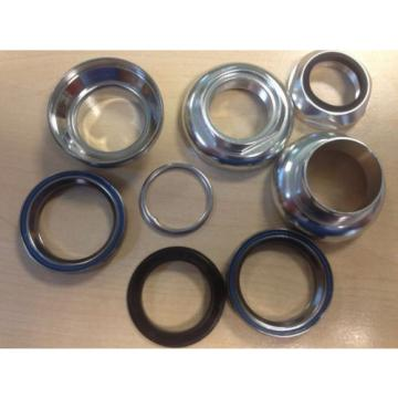 """DUCAS 1"""" alloy threaded headset sealed bearings Fixed Gear Vintage Track, SILVER"""