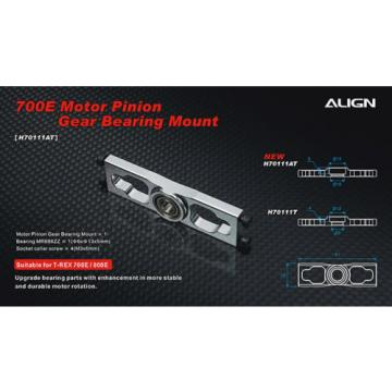 ALIGN H70111A 700E V2 Motor Pinion Gear Bearing Mount 16g