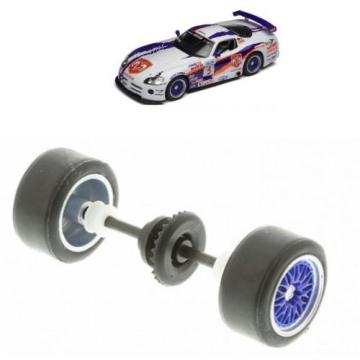 Scalextric W9720 Rear Axle Wheels Bearings Gear & Tyres For Dodge Viper C2907