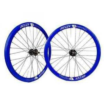 Origin8 Track Wheelset 700c BLUE Fixed Gear Deep 42mm Rims Sealed Bearing Hubs