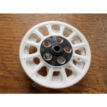 TREX 550 / 600 WHITE MAIN & TAIL DRIVE GEARS & BLACK ONE-WAY BEARING EARLY TYPE