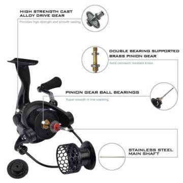 Spinning Fishing Reel 5000 Carbon Fiber Drag 26 Pound 10 + 1 Bearings 4.8:1 Gear