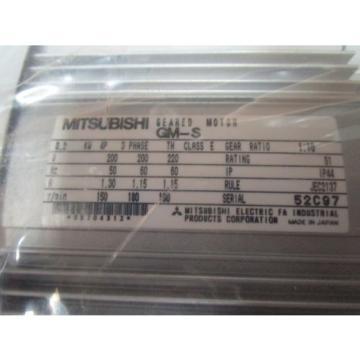 MITSUBISHI GM-S 076-52C GEARED MOTOR 0.2 KW 4P 3PHASE RATIO 1:10, 150/180R/MIN